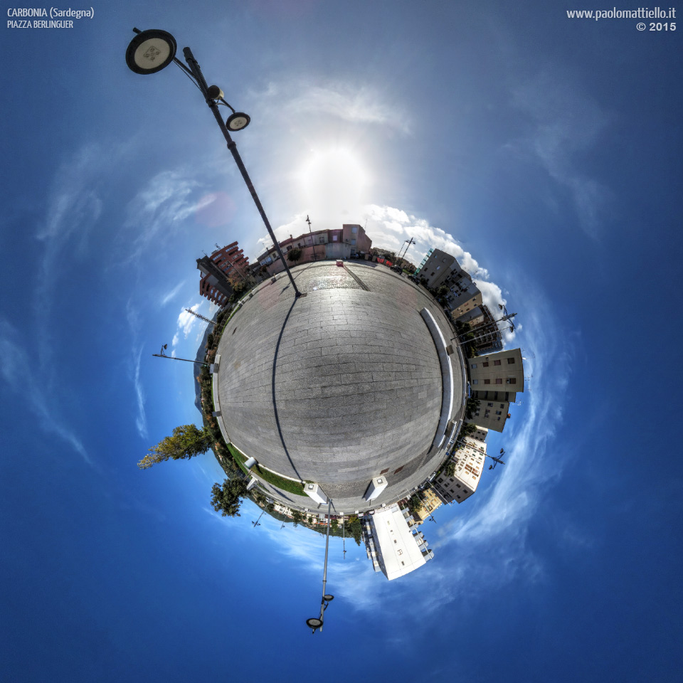 panorama stereografico stereographic - stereographic panorama - Sardegna→Carbonia | Piazza Berlinguer, 29.11.2015